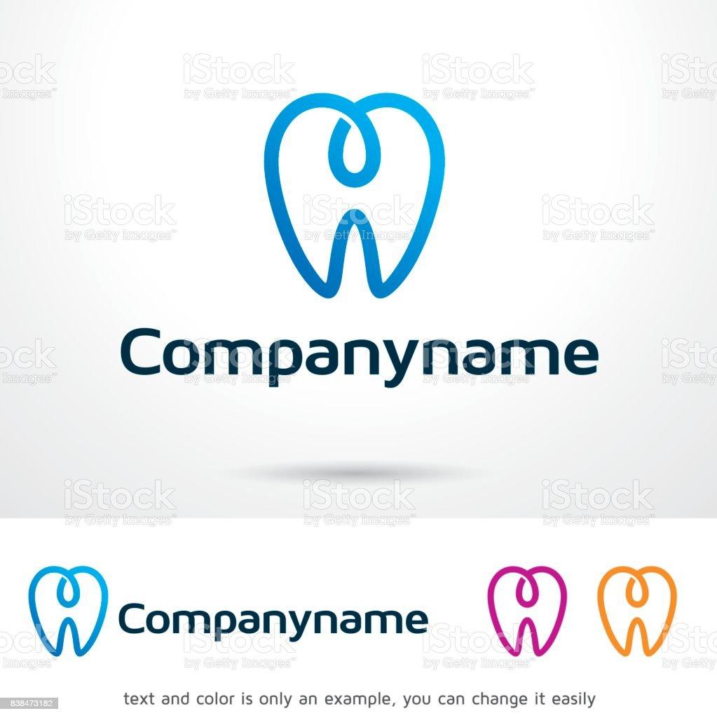 Vector de diseño de plantilla Dentalogy símbolo, emblema, concepto, símbolo creativo, icono de diseño - ilustración de arte vectorial