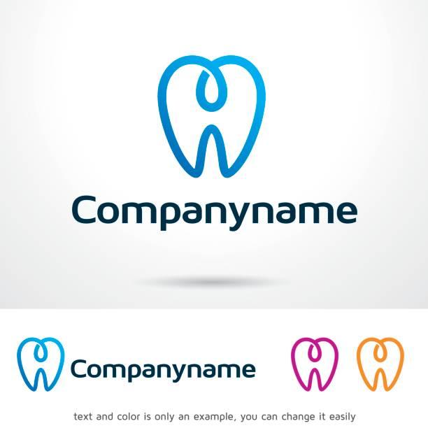 dentalogy symbol template design vector, emblem, design concept, creative symbol, icon - dentist logos stock illustrations