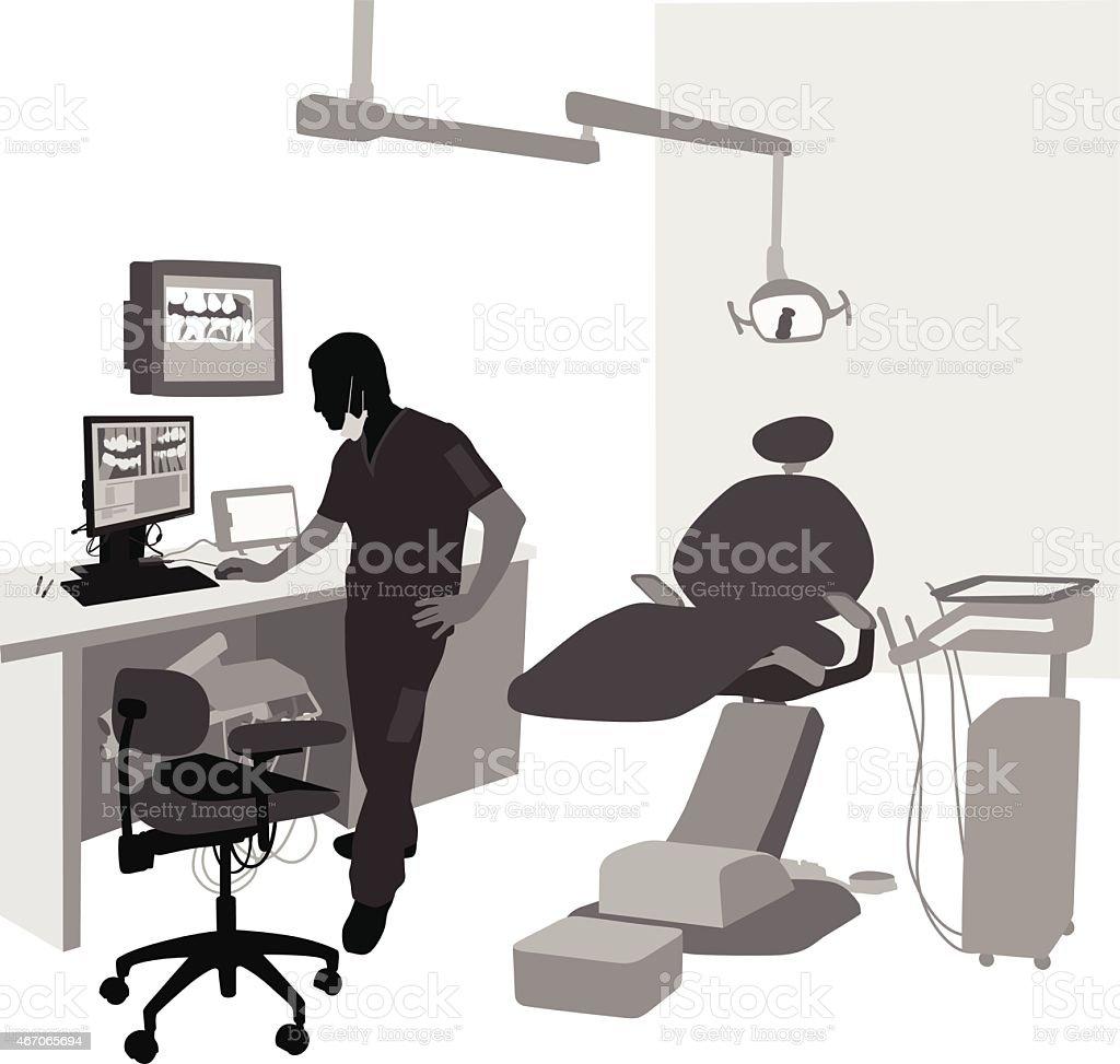 DentalX-Rays vector art illustration
