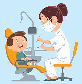 Vector Dentist and Child