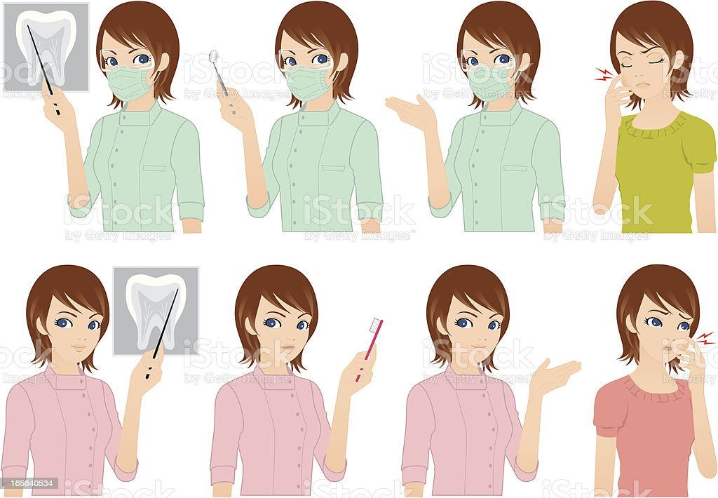 Dentist and Patient royalty-free dentist and patient stock vector art & more images of adult