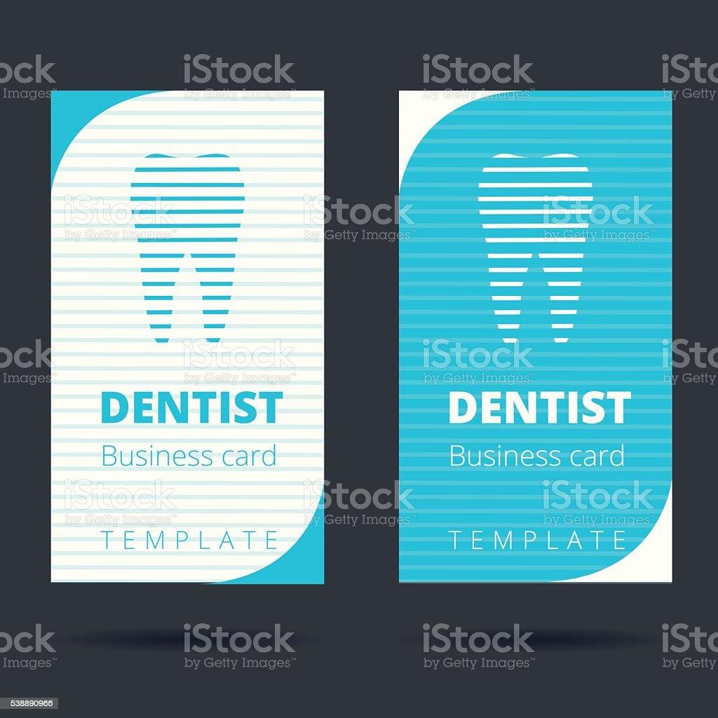 Zahnarzt Und Zahnarzt Visitenkarte Vorlage Stock Vektor Art
