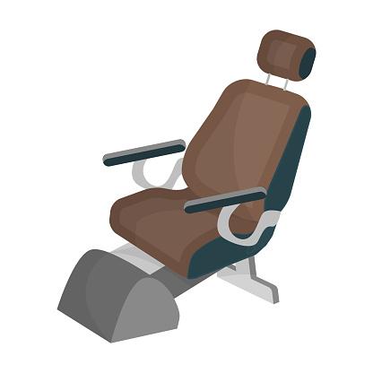 Dentist chair. Medicine single icon in cartoon style vector symbol stock illustration web.