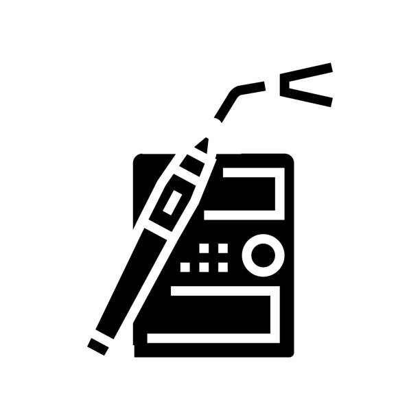 dentist equipment glyph icon vector illustration dentist equipment glyph icon vector. dentist equipment sign. isolated contour symbol black illustration streptococcus mutans stock illustrations