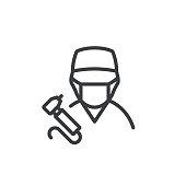istock Dentist Line Icon Editable Stroke 1308738869