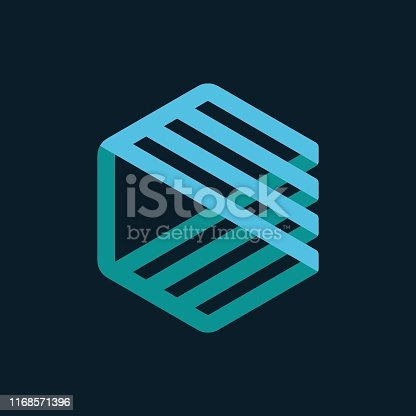 Logo, Dentist, Orthodontist, Teeth, Hexagon