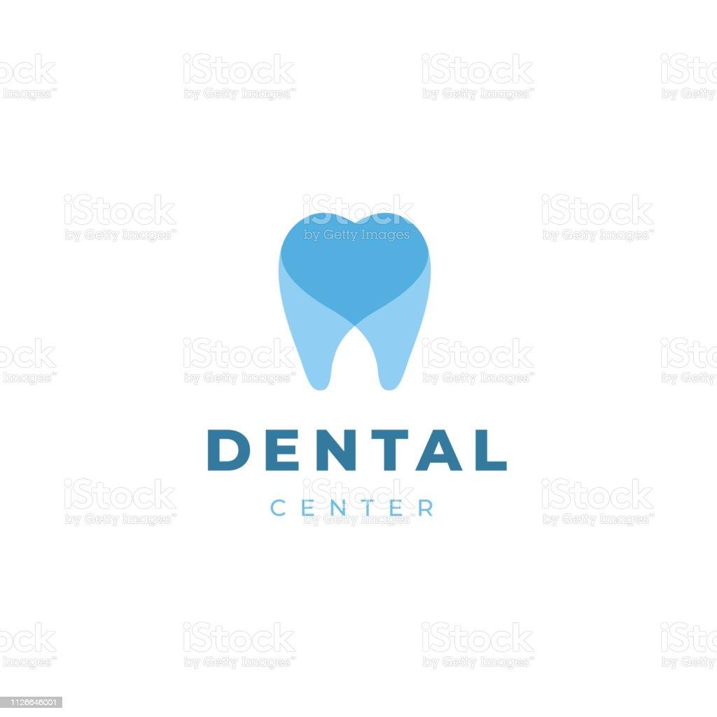 歯科医のロゴタイプのデザイン テンプレートです。 心の創造的なシンボルと歯します。歯科医院ベクトル記号マークのアイコン。 ベクターアートイラスト