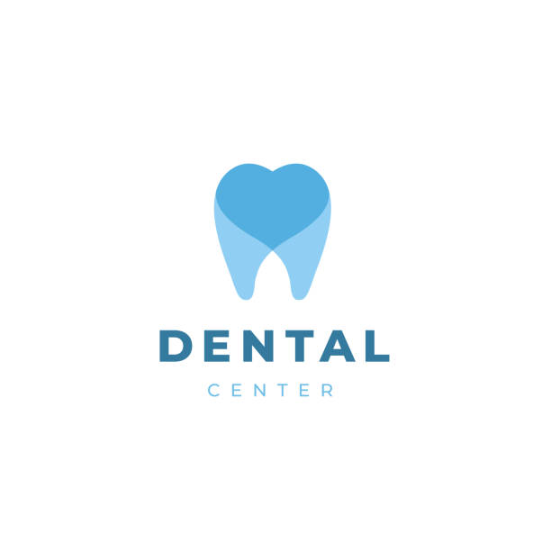 dentist logotype design template.  tooth with heart creative symbol. dental clinic vector sign mark icon. - dentist stock illustrations