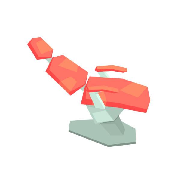 dentist office chair for treatment - stuhllehnen stock-grafiken, -clipart, -cartoons und -symbole