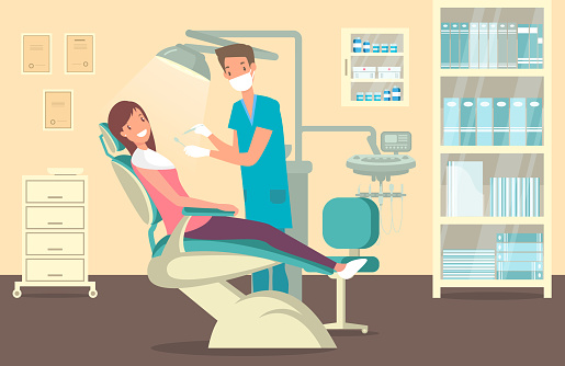 Dentist's office stock illustrations
