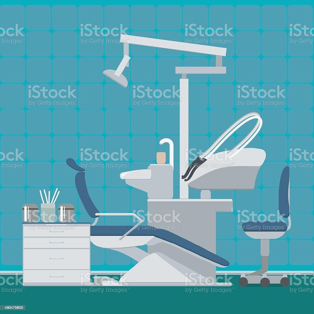 Dentist or dental office vector art illustration