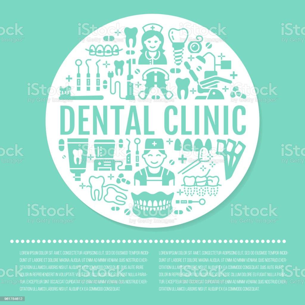 550d3a850 Vetor de Dentista Banner Médica De Ortodontia Azul Com Ícone De ...