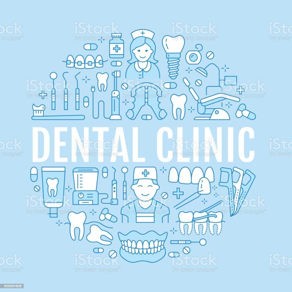 9c1a8207d Vetor de Dentista Banner Médica De Ortodontia Com Ícone De Vetor ...