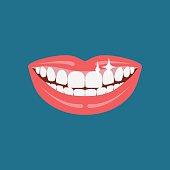 Vector dentist smile.