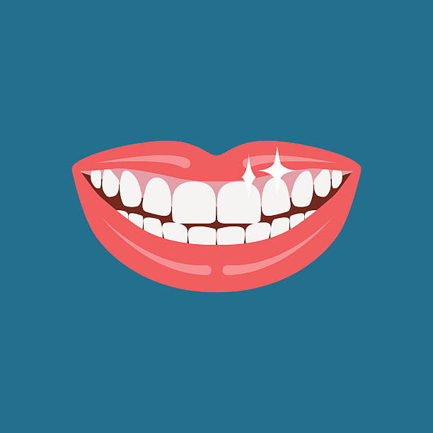 illustrazioni stock, clip art, cartoni animati e icone di tendenza di dentist smile. - denti