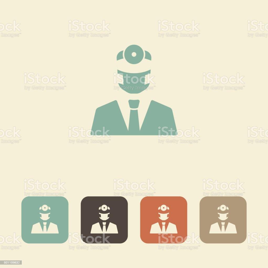 Dentist. Vector icon vector art illustration