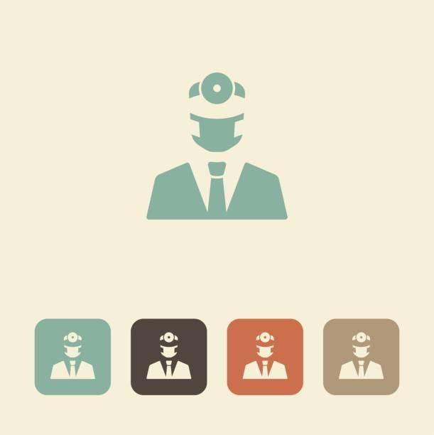 dentist. vector icon - surgeon stock illustrations, clip art, cartoons, & icons