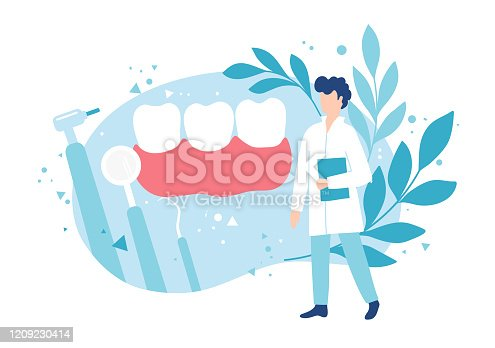 Dentistry and healthy teeth. Examination by a dentist. Hygiene and oral care. Caries prevention.