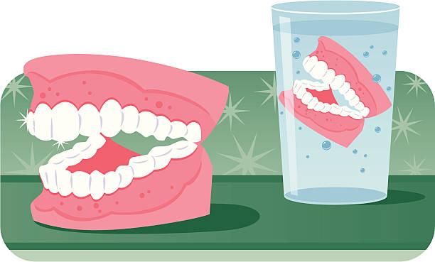 denture adventure vector art illustration