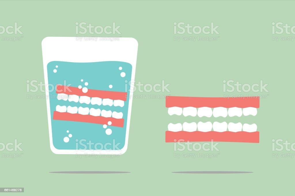denture vector art illustration