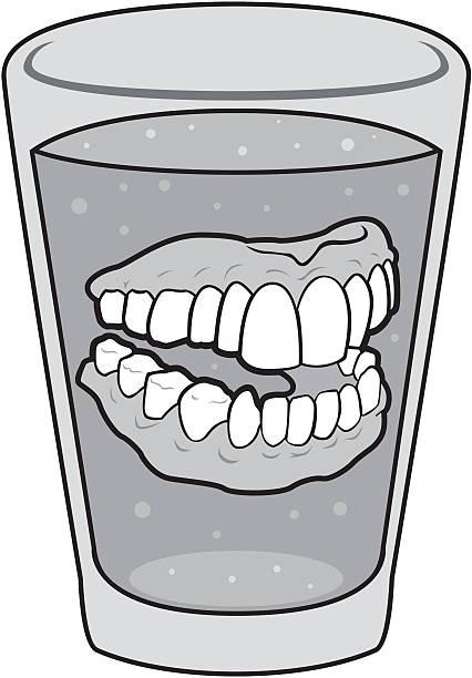 Dentures vector art illustration