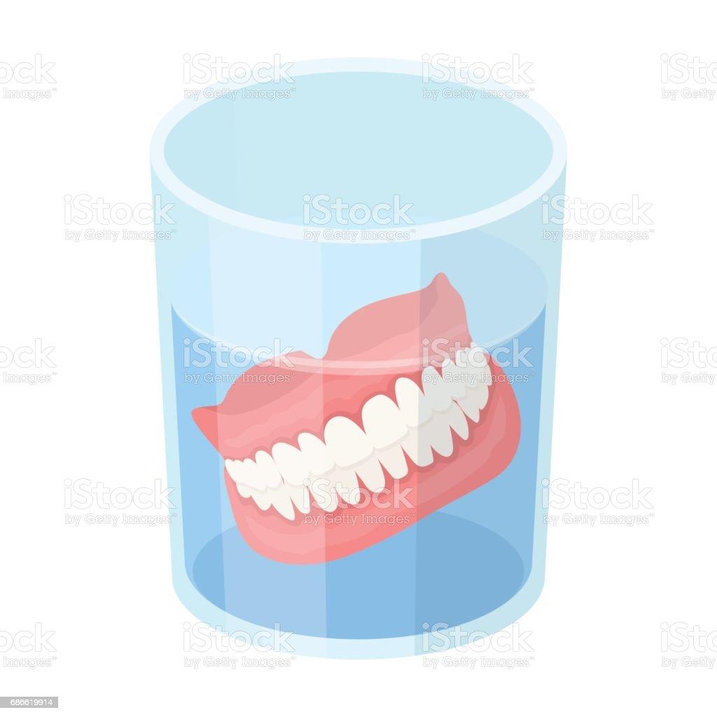 Dentures.Old age single icon in cartoon style vector symbol stock illustration web. vector art illustration