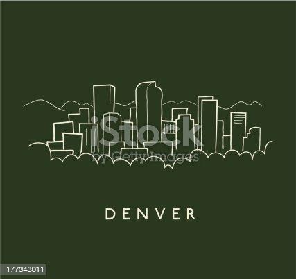 Denver Skyline Sketch