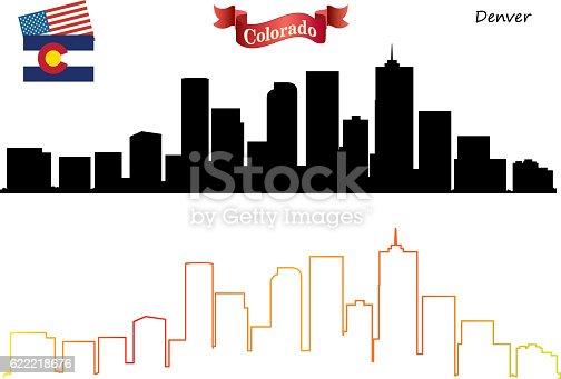Vector Denver Skyline