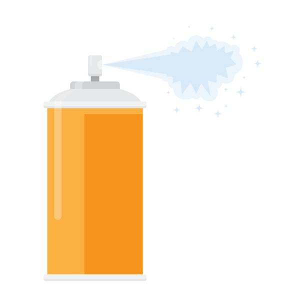 deodorant spray aerosol air freshener deodorant spray aerosol air freshener, vector illustration flat design isolated on white background aerosol can stock illustrations