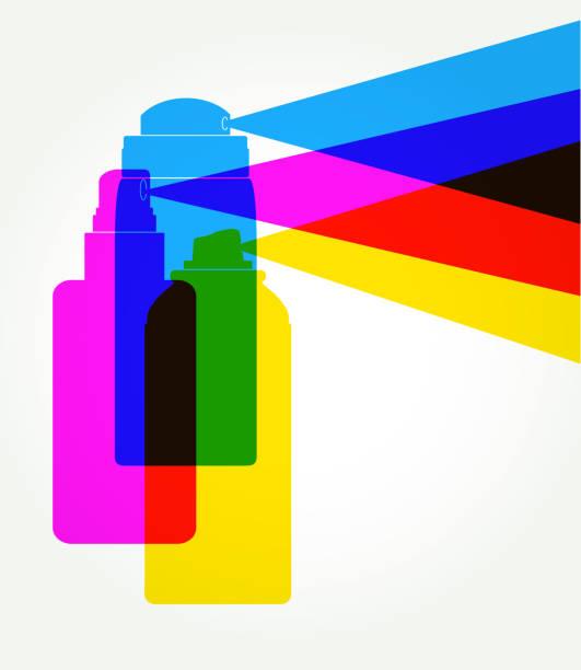 deodorant-spray - haarsprays stock-grafiken, -clipart, -cartoons und -symbole