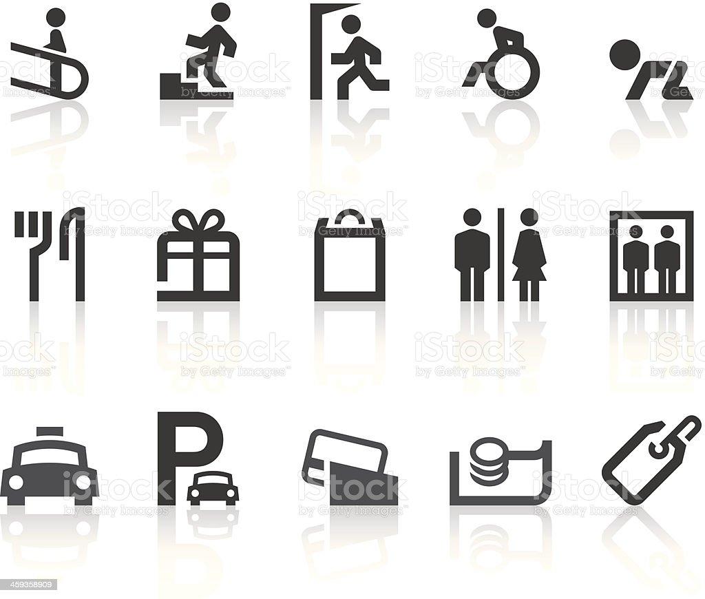 Department Store Icons | Simple Black Series vector art illustration