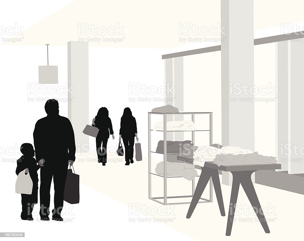 Department Store Vector Silhouette vector art illustration