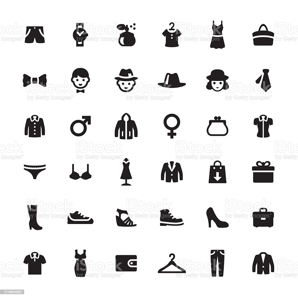 Department Store vector symbols and icons vector art illustration