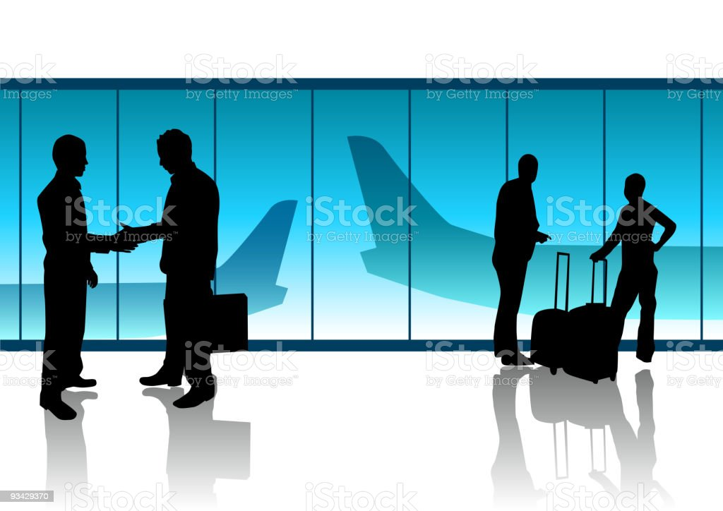 Departure Lounge royalty-free stock vector art