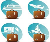 four stylish icons for departure