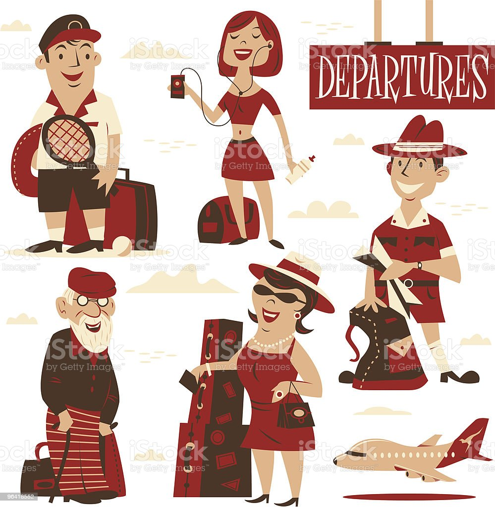 Departures vector art illustration