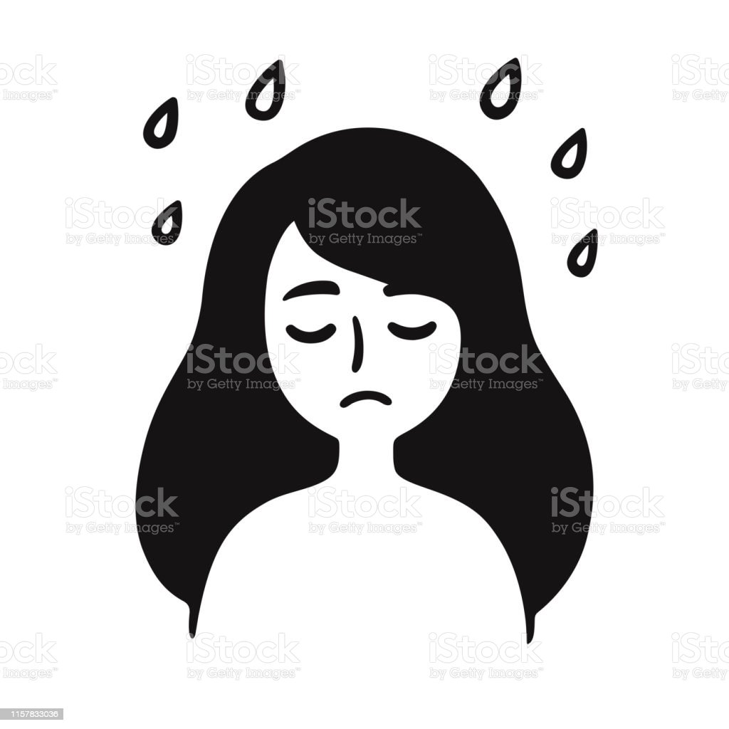 Depressed Girl Drawing Stock Illustration Download Image Now Istock