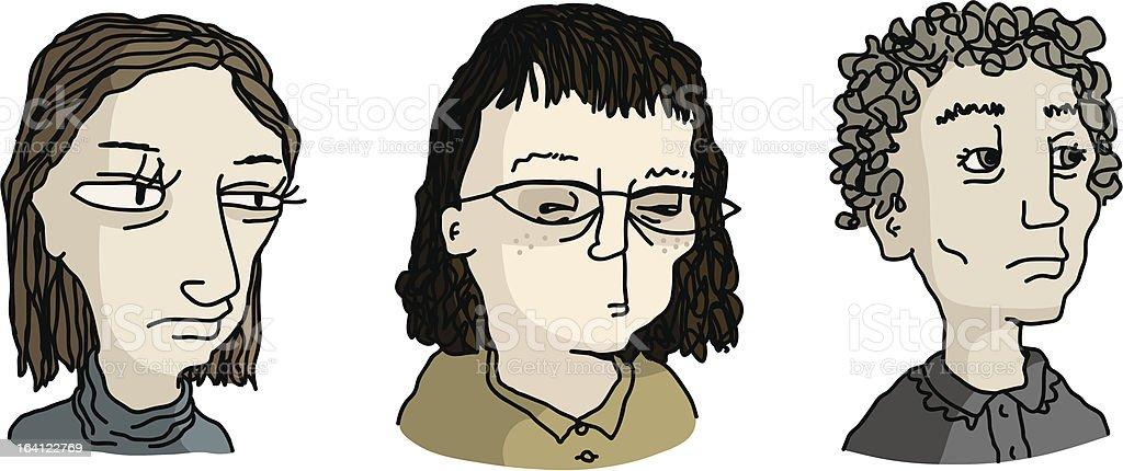 Depressed Women royalty-free stock vector art