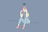 istock Depression, fatigue, mental stress, frustration concept 1217978954