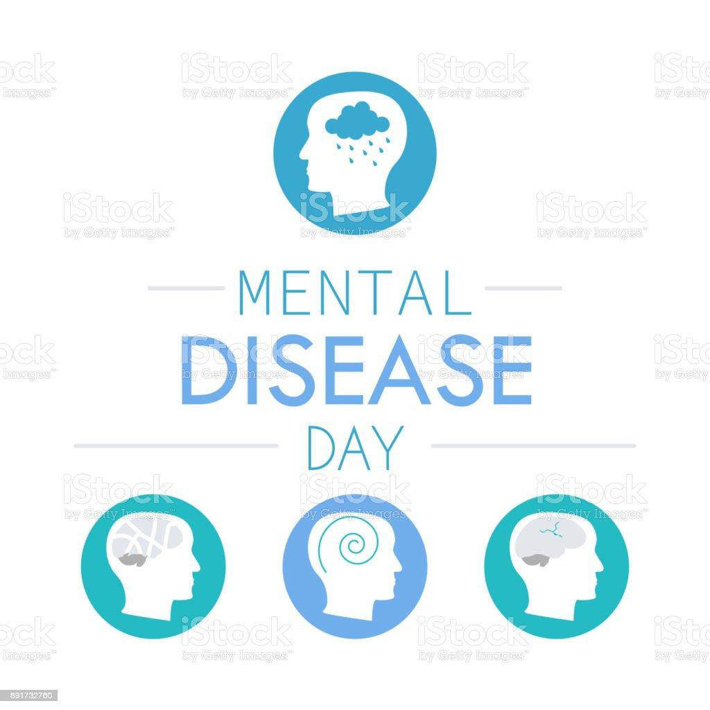 depression mental disease icon vector art illustration