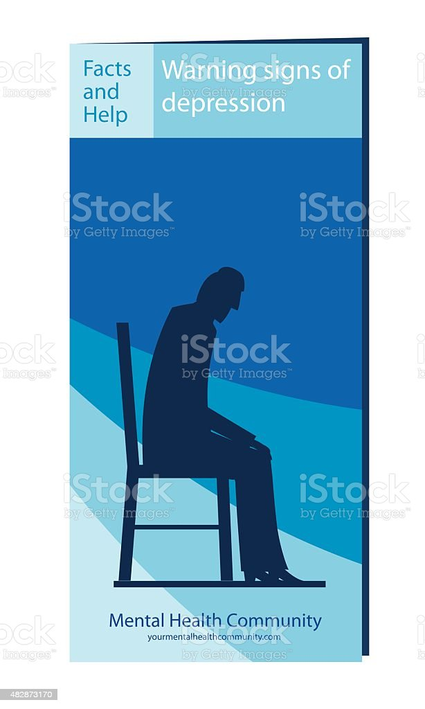 Depression Selfhelp Brochure Or Pamphlet Template Stock Illustration