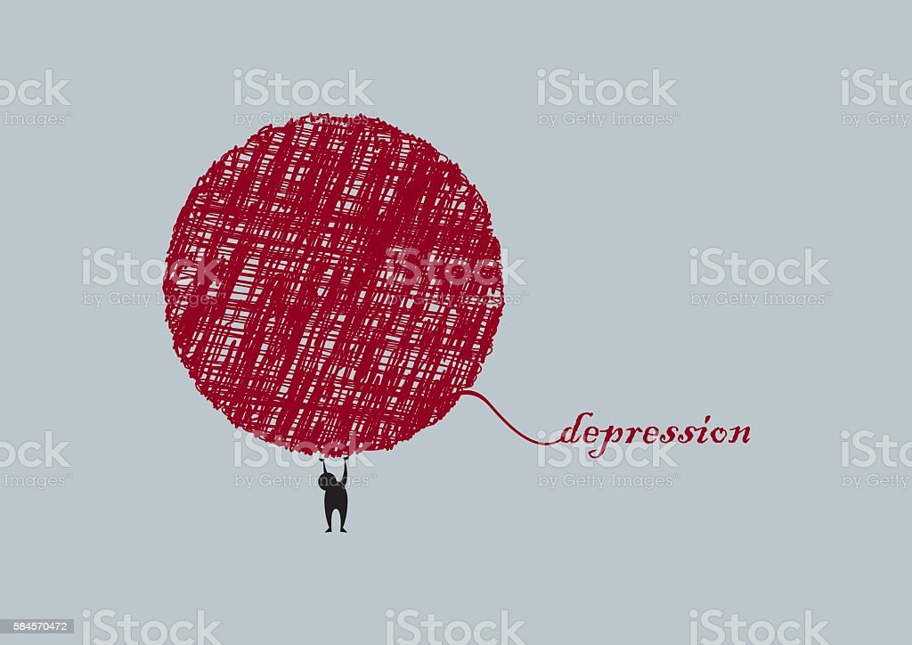 Depression vector illustration vector art illustration