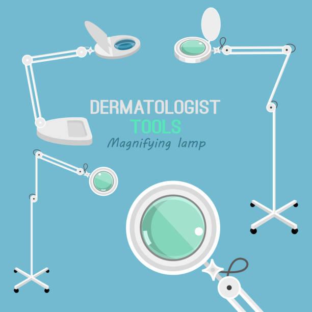 dermatologist equipment set - dermatologist stock illustrations, clip art, cartoons, & icons