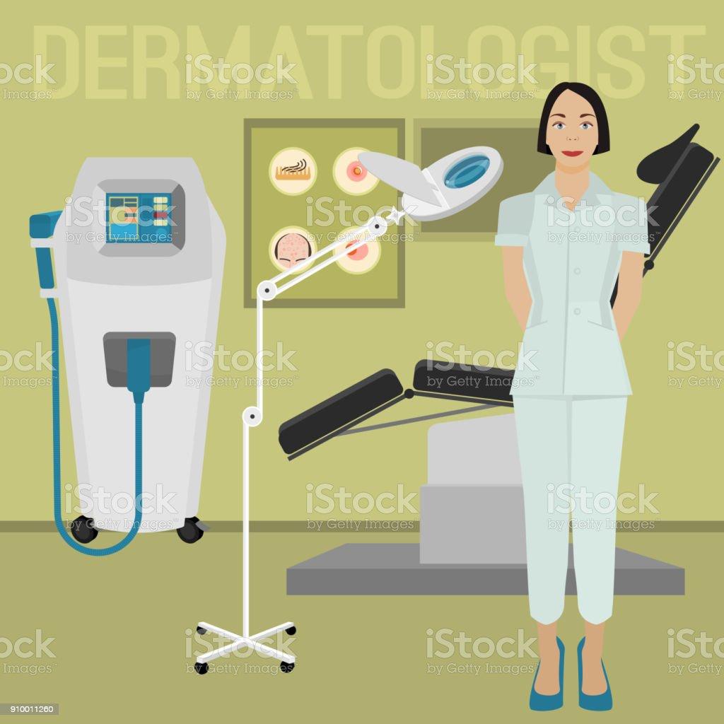 皮膚科医のオフィス イメージ ベクターアートイラスト