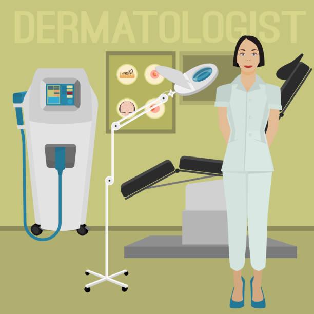 dermatologist office image - dermatologist stock illustrations, clip art, cartoons, & icons
