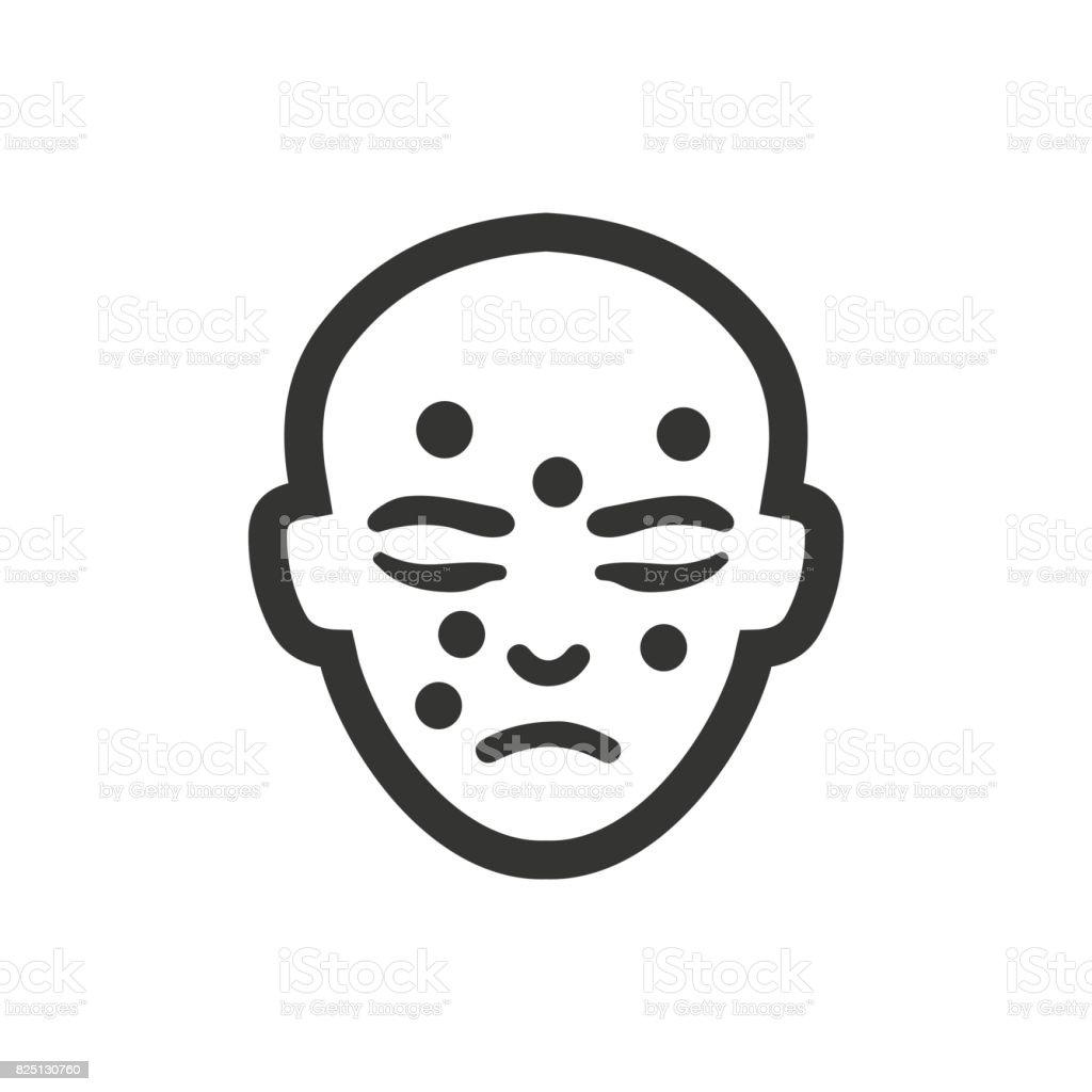 皮膚のアイコン ベクターアートイラスト
