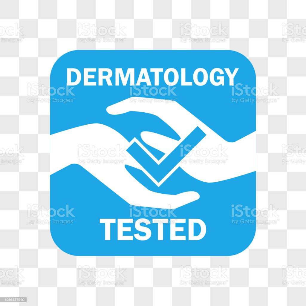 Dermatologie getestet Symbol für Kosmetisches Produkt – Vektorgrafik