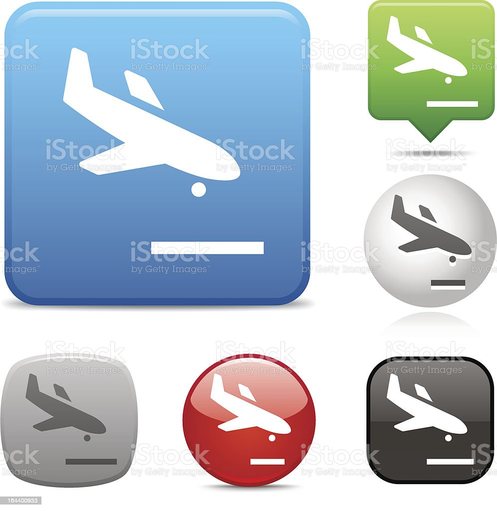 Descending Airplane icon royalty-free descending airplane icon stock vector art & more images of air vehicle
