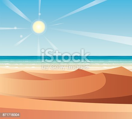 Vector Desert and Sea