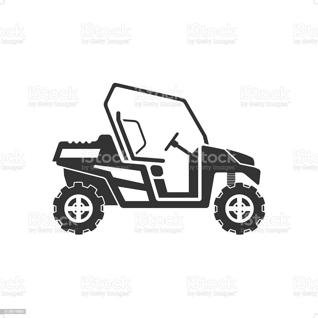 Desert Car vector art illustration